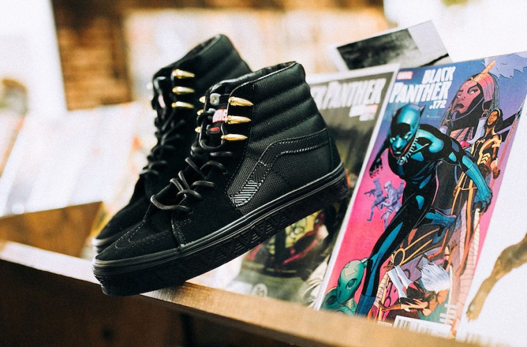 c3a7a15329b What Are Those !   Black Panther  Vans Sneakers and Tees Have ...