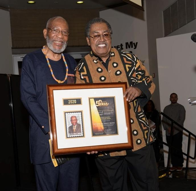 "BBA Honoree, Rev. Dr. Amos C. Brown and ""Skip"" Cooper (Photo: iFoxx Media)"