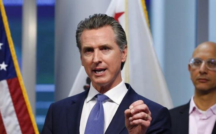 Gavin Newsom - press conference