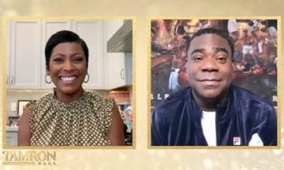 Tamron Hall and Tracy Morgan