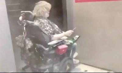 wheelchair bound white woman - george floyd