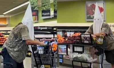Man wears KKK hood while shopping at suburban San Diego store