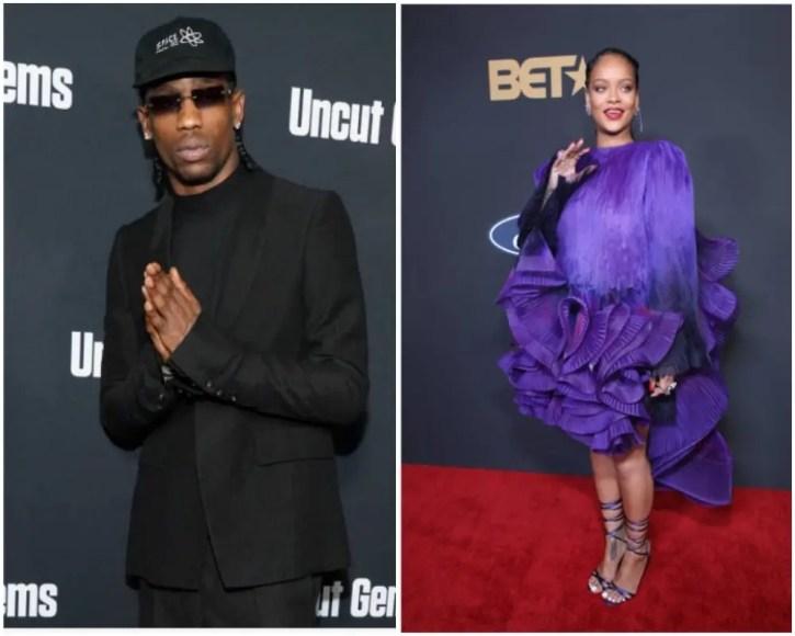 Rihanna, Travis Scott (Getty Images)
