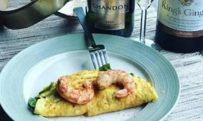 shrimp omelette