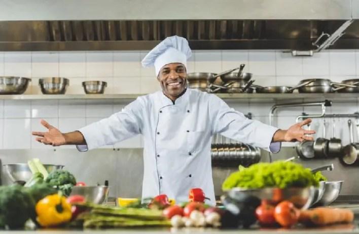 Black chef-restaurant