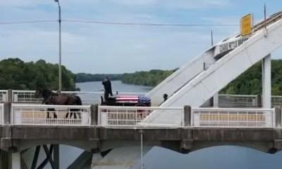 John Lewis - casket Edmund Pettus bridge