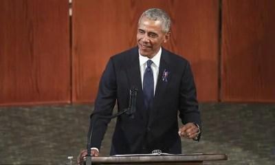 Barack Obama - lecturn - Getty