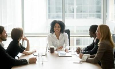 corporate board with persons of color