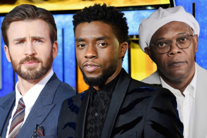 Chris Evans - Chadwick Boseman - Sam L Jackson (Getty)