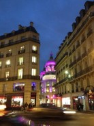 Printemps department store, in the distance