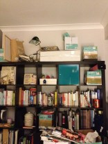 The amazing expedit bookcase, being abused.
