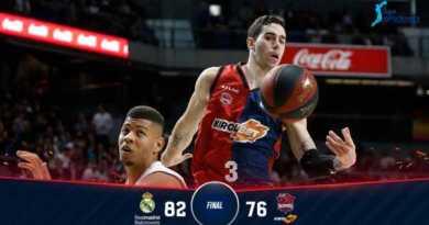 El Baskonia cae ante el Madrid,