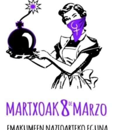 El polémico cartel de Ermua para mostrar su apoyo al 8-M,