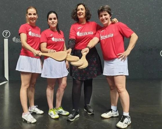 Este sábado se disputa la final del II Torneo Bizkaia de Paleta Cuero Femenino organizado por Diputación en Bizkaia Frontoia,