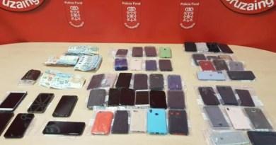 Detenidos en Irurtzun con más de medio centenar de móviles robados en Donostia durante la tamborrada,