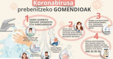Euskadi contabiliza un total de 9 casos positivos por coronavirus,