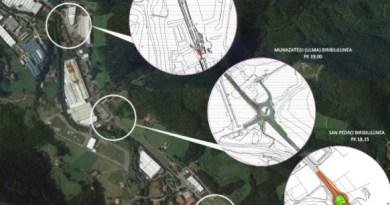 Gipuzkoa prevé varias mejoras en la GI-2630 entre San Prudencio y Oñati,