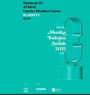 107 propuestas optarán a los premios Musika Bulegoa Sariak 2021,