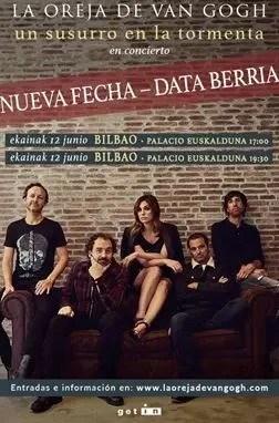 La Oreja de Van Gogh aplaza al 12 de junio de 2021 su concierto de este sábado en el Euskalduna de Bilbao,