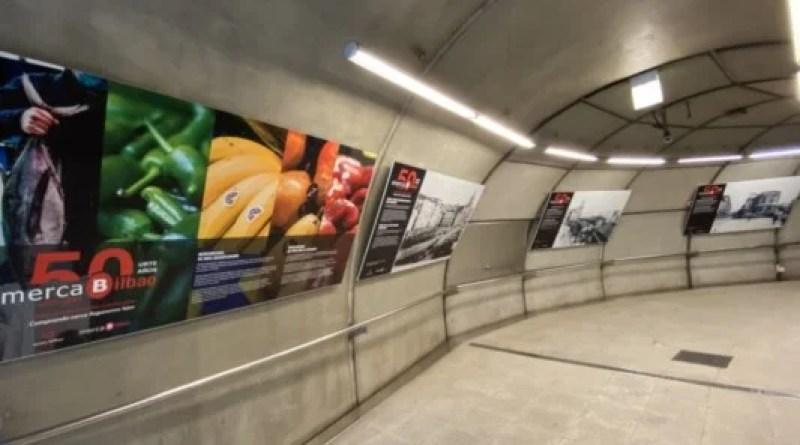 Mercabilbao traslada la exposición del 50 aniversario a la estación de Gurutzeta/Cruces del metro,