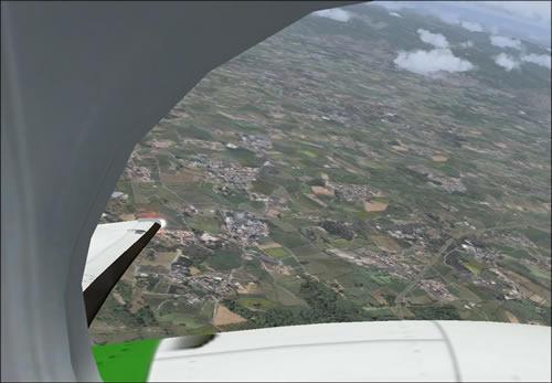 Vista desde la ventana del piloto