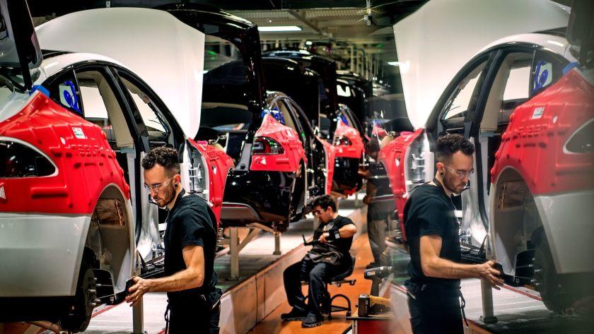factory of Tesla