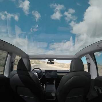 Model y view in the roof