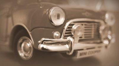 classic mini in brown