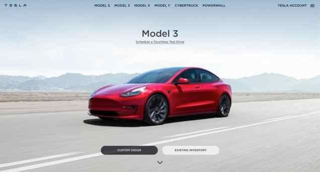 Model 3 Tesla .com