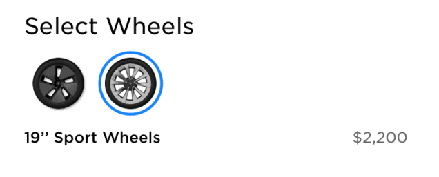 New wheels selection