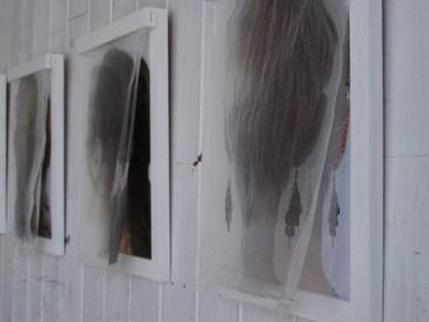 Haarbilder_bedruckte Seide, Fotografie