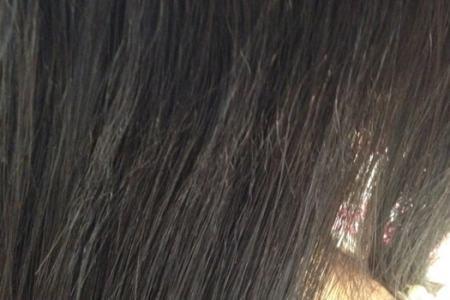 「美容師さんに髪がパサついていますね。」っていわれました。「いいえ、これはびびりです。」