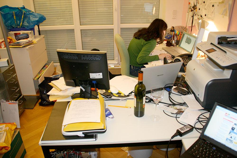 Ordnung schaffen Arbeitszimmer