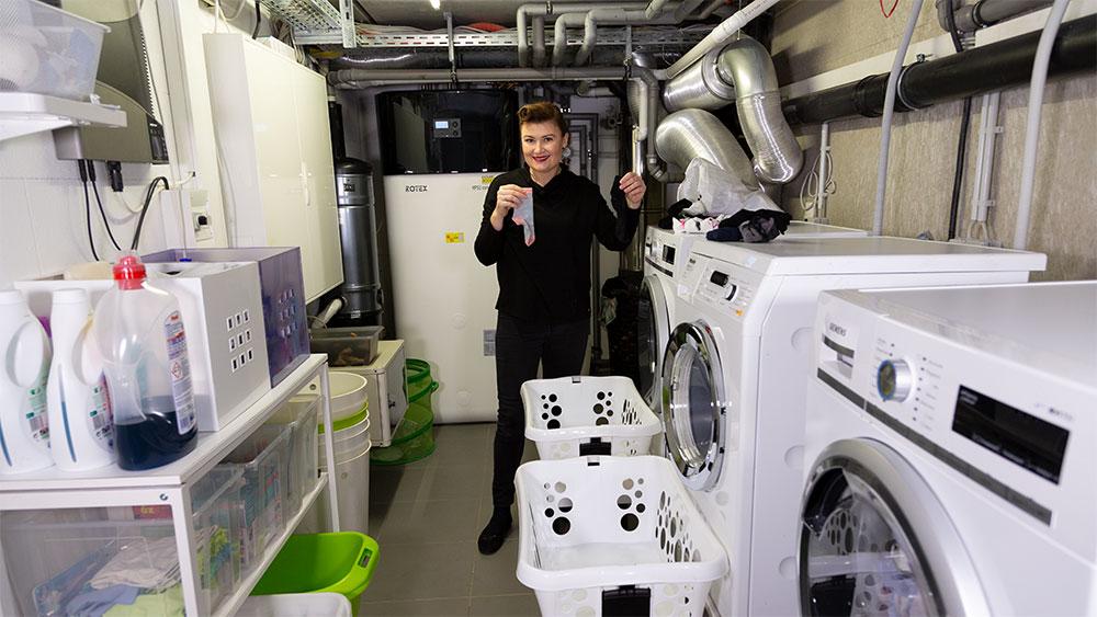 Ordnung schaffen Waschraum