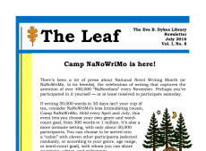 July newsletter snip