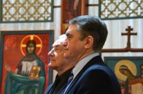 Son Excellence Monsieur Oleg Shamshur, Ambassadeur d'Ukraine en France et Tarass Horyshnyi, Président du CRCUF -Credit photo: Théo Humming-Bouffier