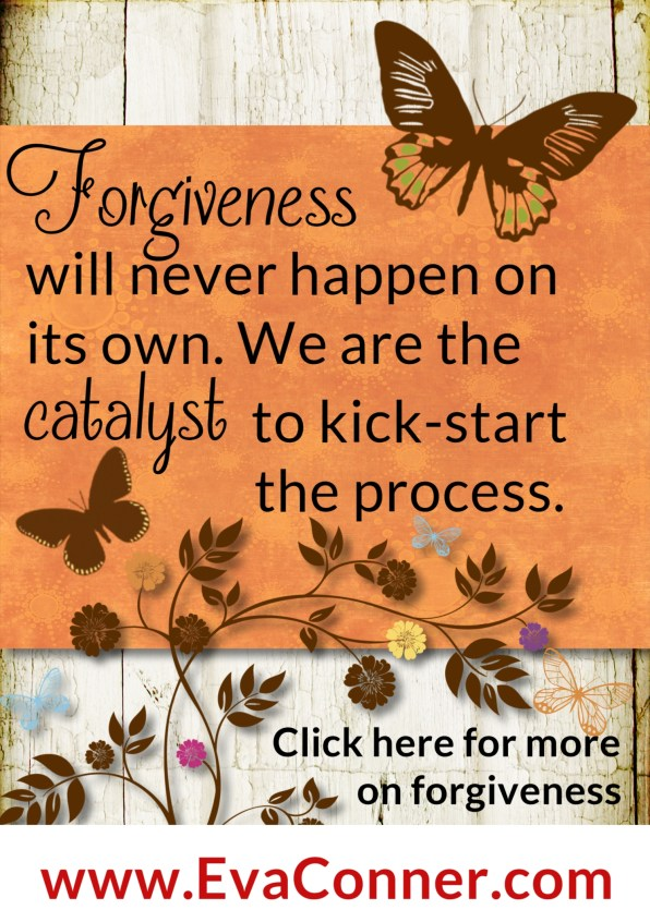 Forgiveness will never happen on its own