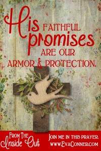 His faithful promises are our armor and protection.