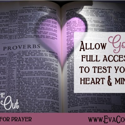 Daily Prayer – Let God Test Your Heart and Mind