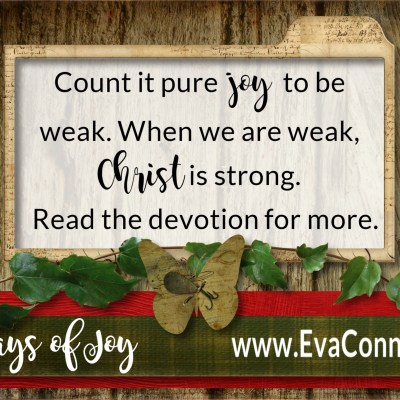 31 Days of Joy ~ Day 27 Victory In Weakness
