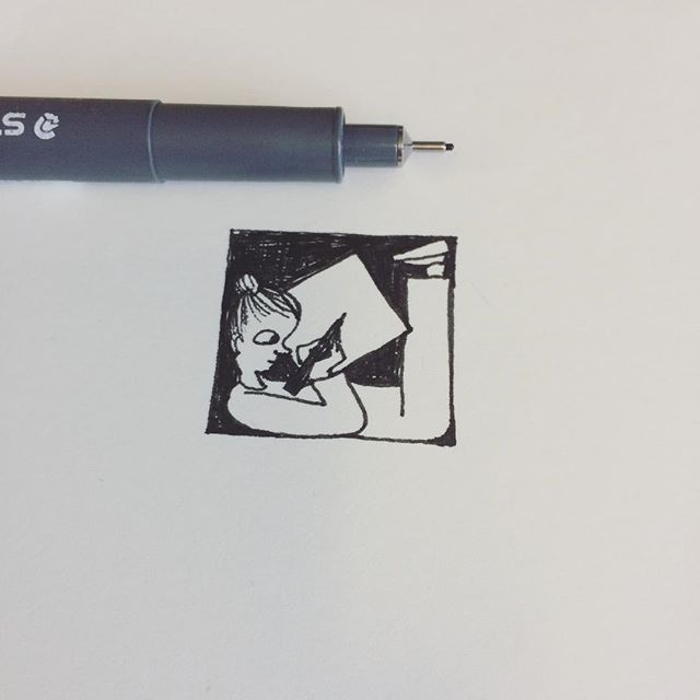 Only allowed tiny procrastination, no bigger than 1 inch square. Keeping my creativity monster on a leash. #JohnVernonLord #DrawingaDay @illustrationhq #blackandwhitedrawing #creativerestriction #creativeprocess