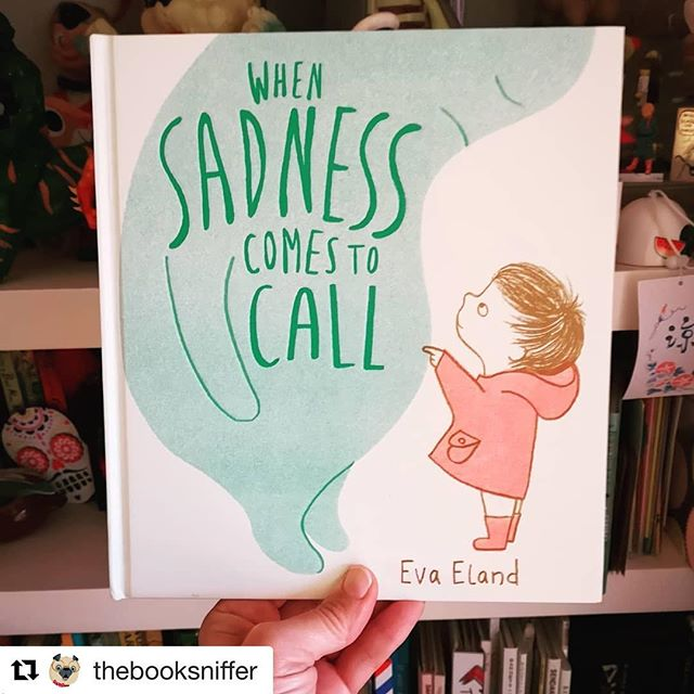 Whilst I'm still thinking of what to say about sadness and summoning up the courage to share my debut book with the world, Sadness is already going out and about and doing it's thing. I was very happy to find this wonderful review from @thebooksniffer, among a lovely curated feed of great picture books. 'When Sadness Comes to Call' is coming out with @andersenpress on January 3d. I'll soon be sharing some of my thoughts behind this book and some work in progress. #Repost @thebooksniffer with @get_repost・・・This though... Breaking my heart a tiny piece at a time #whensadnesscomestocall by @evaeland published by @andersenpress - a delecately told tale, dealing with feelings of  sadness for the very young whilst providing subtle, thought provoking and  comforting coping strategies for readers of all ages 10/10 #kidlit #mindfulness #illustration #bookdesign