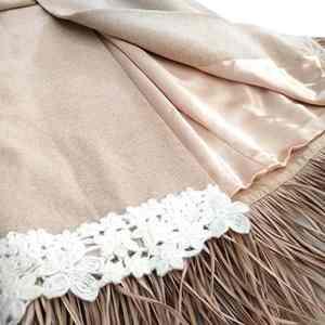Cappotto beige in lana pregiata