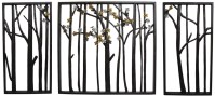 Outdoor Metal Wall Art Flower Leaf Trees