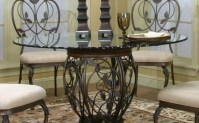 Pedestal 48 Round Glass Dining Table Set