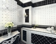Black and White Tiles for Bathroom Renovation