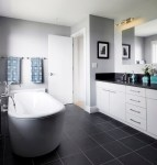 Black and White Bathroom Wall Tile Design Ideas