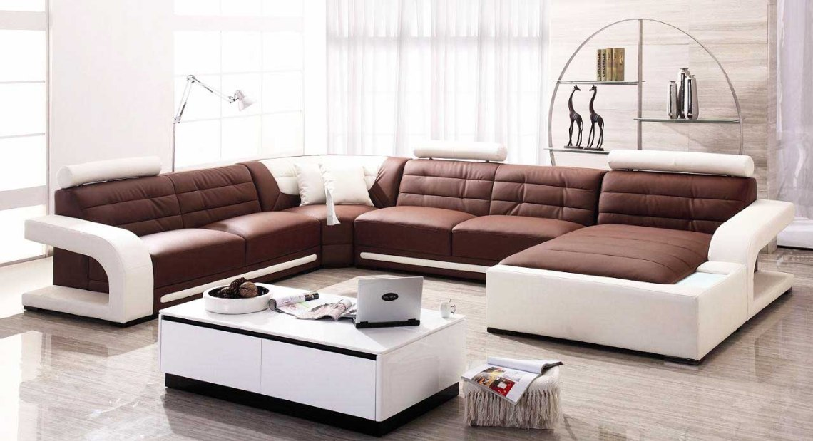 Leather and Microfiber Sectional Sofa Design Ideas