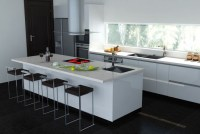 contemporary-white-stainless-steel-kitchen-countertops