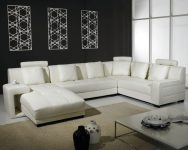 Best White Leather Sectional Sofa for Small Living Room